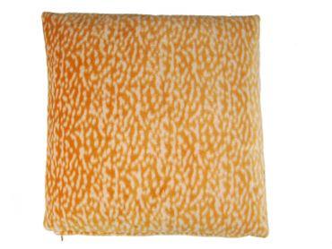 Kissen Dekokissen Miniblings 37x37cm flauschig Nickistoff Leopard Muster orange – Bild 1
