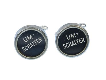 Umschalter Cuff Links Cufflinks Typewriter Keys Miniblings Vintage Unique – Bild 1