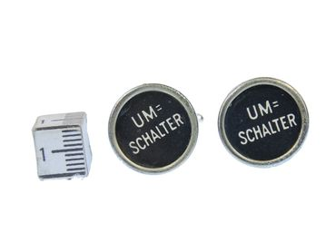 Umschalter Cuff Links Cufflinks Typewriter Keys Miniblings Vintage Unique – Bild 2