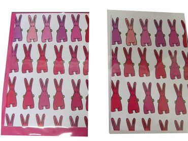 5X Set Folding Card Greeting Card Congratulations Kalle Fux Pink Bunny Rabbit Card Post