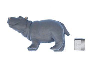 10x Nilpferde Aufstellfigur Miniblings Gummitier 6cm Afrikanisches Nilpferd Grau – Bild 3