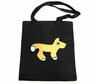 Baumwolltragetasche Jutebeutel Beutel Miniblings Hund Fuchs Kinder – Bild 1