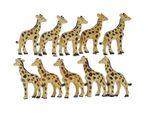10x Giraffen Aufstellfigur Miniblings Gummitier Afrikanische Giraffe Beige Braun