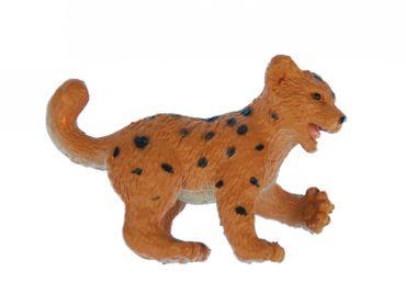 10X Leo Lionpard Cheetah Baby Child Children Miniblings Toy Figures Figurines African Orange – Bild 4