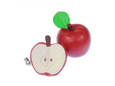 Apple Rubber Brooch Pin Miniblings Fruit Food Eating Fruit – Bild 2