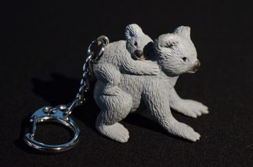 Koala Key Chain Key Ring Miniblings Bear Key Ring Australia Family Baby Child Children – Bild 3