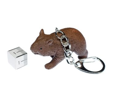 Wombat Key Chain Key Ring Miniblings Necklace Key Ring Australia Marsupial – Bild 2