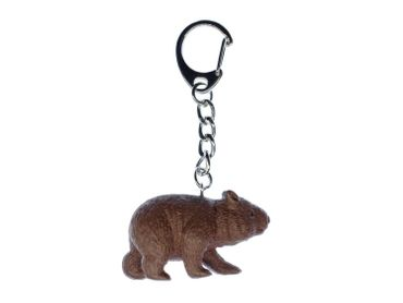 Wombat Key NecklaceKey Ring Miniblings Necklace Key Ring Australia Marsupial – Bild 1
