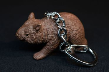 Wombat Key NecklaceKey Ring Miniblings Necklace Key Ring Australia Marsupial – Bild 3