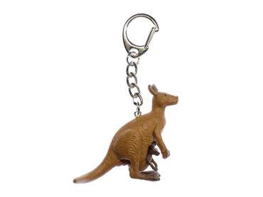Känguru Schlüsselanhänger Miniblings Anhänger Schlüsselring Australien Gummi – Bild 1