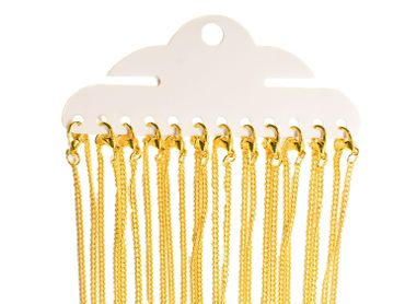 12X Curb NecklaceLink Necklace 2.4mm DIY Miniblings Necklace Gold Plated Lobster Clasp 80cm – Bild 1