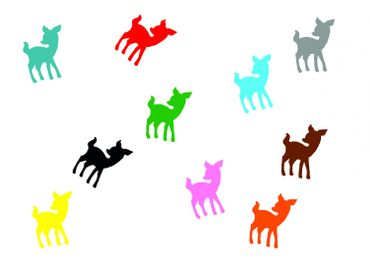 10X Patch Hotfix Iron On Motif Miniblings 22mm Velvety Flock Deer Bambi Kitz – Bild 1
