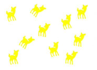 10X Patch Hotfix Iron On Motif Miniblings 22mm Velvety Flock Deer Bambi Kitz – Bild 2