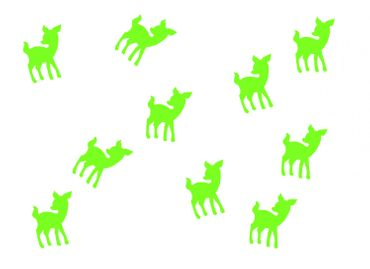 10X Patch Hotfix Iron On Motif Miniblings 22mm Velvety Flock Deer Bambi Kitz – Bild 18