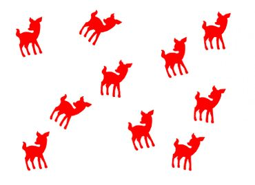 10X Patch Hotfix Iron On Motif Miniblings 22mm Velvety Flock Deer Bambi Kitz – Bild 11
