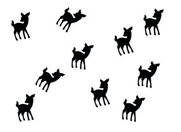 10X Patch Hotfix Iron On Motif Miniblings 22mm Velvety Flock Deer Bambi Kitz – Bild 12