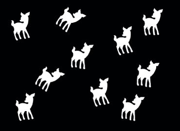 10X Patch Hotfix Iron On Motif Miniblings 22mm Velvety Flock Deer Bambi Kitz – Bild 14