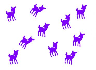 10X Patch Hotfix Iron On Motif Miniblings 22mm Velvety Flock Deer Bambi Kitz – Bild 8