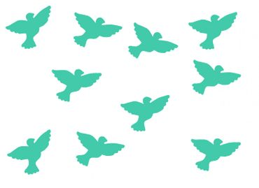 10X Patch Hotfix Iron On Motif Miniblings 26mm Velvety Flock Pigeon Bird – Bild 13