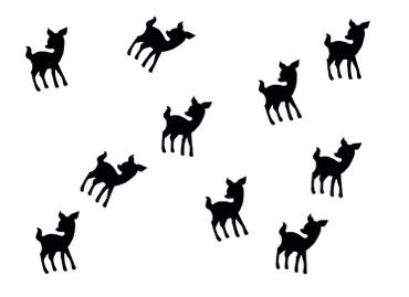 10X Patch Hotfix Iron On Motif Miniblings 22mm Glossy Gloss Deer Bambi Kitz – Bild 13
