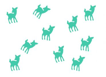 10X Patch Hotfix Iron On Motif Miniblings 22mm Glossy Gloss Deer Bambi Kitz – Bild 14