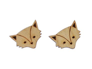 Fox Head Earrings Ear Studs Earstuds Miniblings Animals In The Wild Fox Hunting Pack Animal – Bild 1