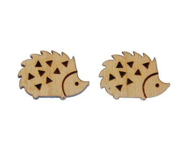 Igel Earrings Ear Studs Earstuds Earrings Miniblings Animal Forest Animal Hedgehog Autumn Hedgehog – Bild 1