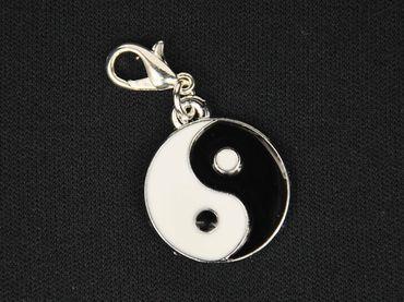 Yin Yang Charm For Bracelet Wristlet Dangle Miniblings Ying Characters Taoism Taijitu – Bild 3