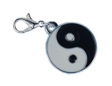 Yin Yang Charm For Bracelet Wristlet Dangle Miniblings Ying Characters Taoism Taijitu – Bild 1