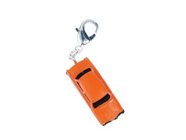 Trabbi Auto DDR Charm Trabant Trabi Anhänger Bettelanhänger Miniblings orange – Bild 1