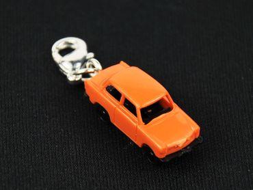 Trabbi Auto DDR Charm Trabant Trabi Anhänger Bettelanhänger Miniblings orange – Bild 3