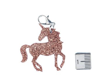 Unicorn Charm For Bracelet Wristlet Dangle Charms Miniblings Fantasy Unicorn tale Glitter – Bild 2