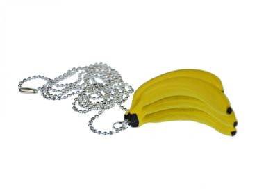 Banana Tree Necklace Miniblings 80cm Monkey Bananas fruits foods Fruit Jungle Yellow – Bild 1
