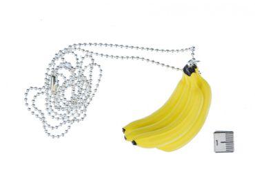Bananenstaude Kette Halskette Miniblings 80cm Affe Banane Obst Dschungel gelb – Bild 5