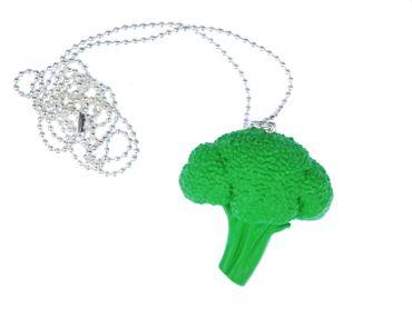 Brokkolikopf Kette Halskette Miniblings 80cm Brokkoli Gemüse Landschaft Acker – Bild 1