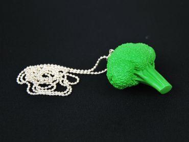 Brokkolikopf Kette Halskette Miniblings 80cm Brokkoli Gemüse Landschaft Acker – Bild 3