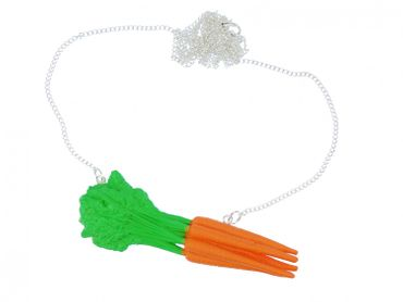 Carrots Necklace Miniblings 80cm Carrot orange food vegetable cooking horse – Bild 1
