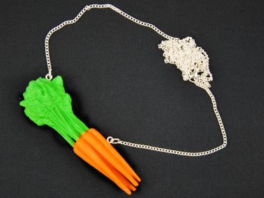 Carrots Necklace Miniblings 80cm Carrot orange food vegetable cooking horse – Bild 2