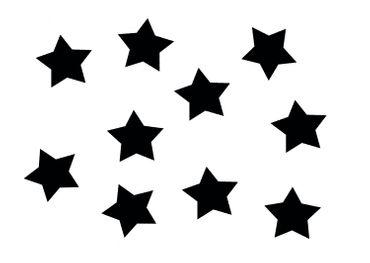 10x Bügelbild Bügelbilder Aufnäher Patch Miniblings 25mm GLATT Stern schwarz – Bild 1