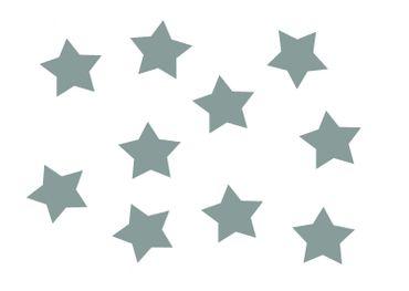 10x Bügelbild Bügelbilder Aufnäher Patch Miniblings 25mm FLOCK Stern grau – Bild 1
