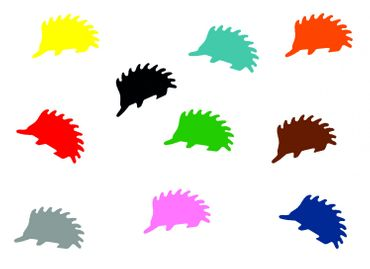 10X Patch Hotfix Iron On Motif Miniblings 23mm Velvety Flock Hedgehog Animal Autumn – Bild 1