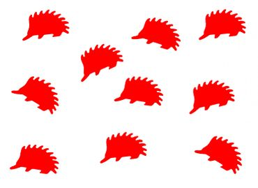 10X Patch Hotfix Iron On Motif Miniblings 23mm Velvety Flock Hedgehog Animal Autumn – Bild 11