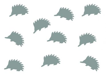 10X Patch Hotfix Iron On Motif Miniblings 23mm Velvety Flock Hedgehog Animal Autumn – Bild 3