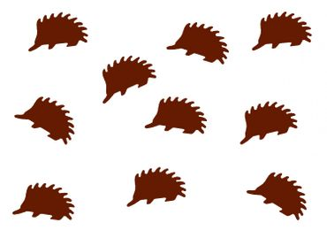 10X Patch Hotfix Iron On Motif Miniblings 23mm Velvety Flock Hedgehog Animal Autumn – Bild 7
