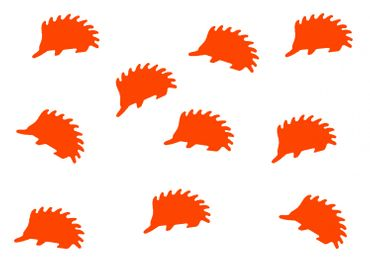 10X Patch Hotfix Iron On Motif Miniblings 23mm Velvety Flock Hedgehog Animal Autumn – Bild 9