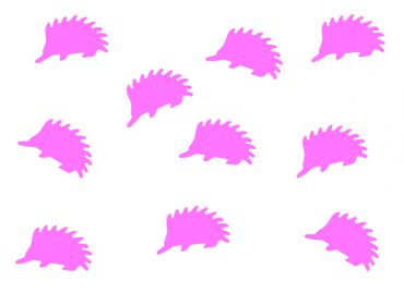 10X Patch Hotfix Iron On Motif Miniblings 23mm Velvety Flock Hedgehog Animal Autumn – Bild 10