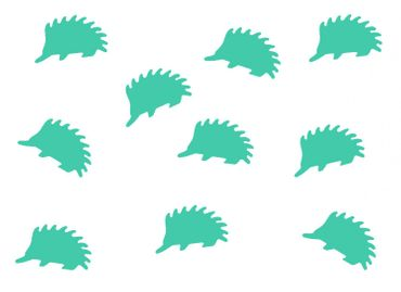10X Patch Hotfix Iron On Motif Miniblings 23mm Glossy Gloss Hedgehog Animal Autumn – Bild 14