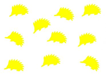 10X Patch Hotfix Iron On Motif Miniblings 23mm Glossy Gloss Hedgehog Animal Autumn – Bild 3