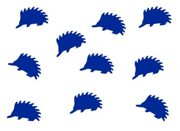10X Patch Hotfix Iron On Motif Miniblings 23mm Glossy Gloss Hedgehog Animal Autumn – Bild 7