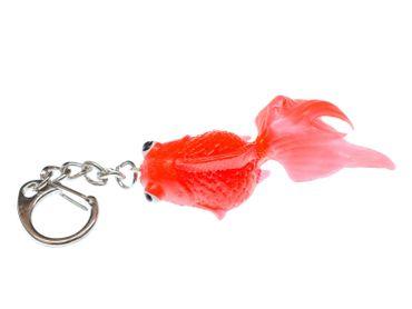 Koi Goldfisch Schlüsselanhänger Miniblings Anhänger Schlüsselring Fisch rot – Bild 1